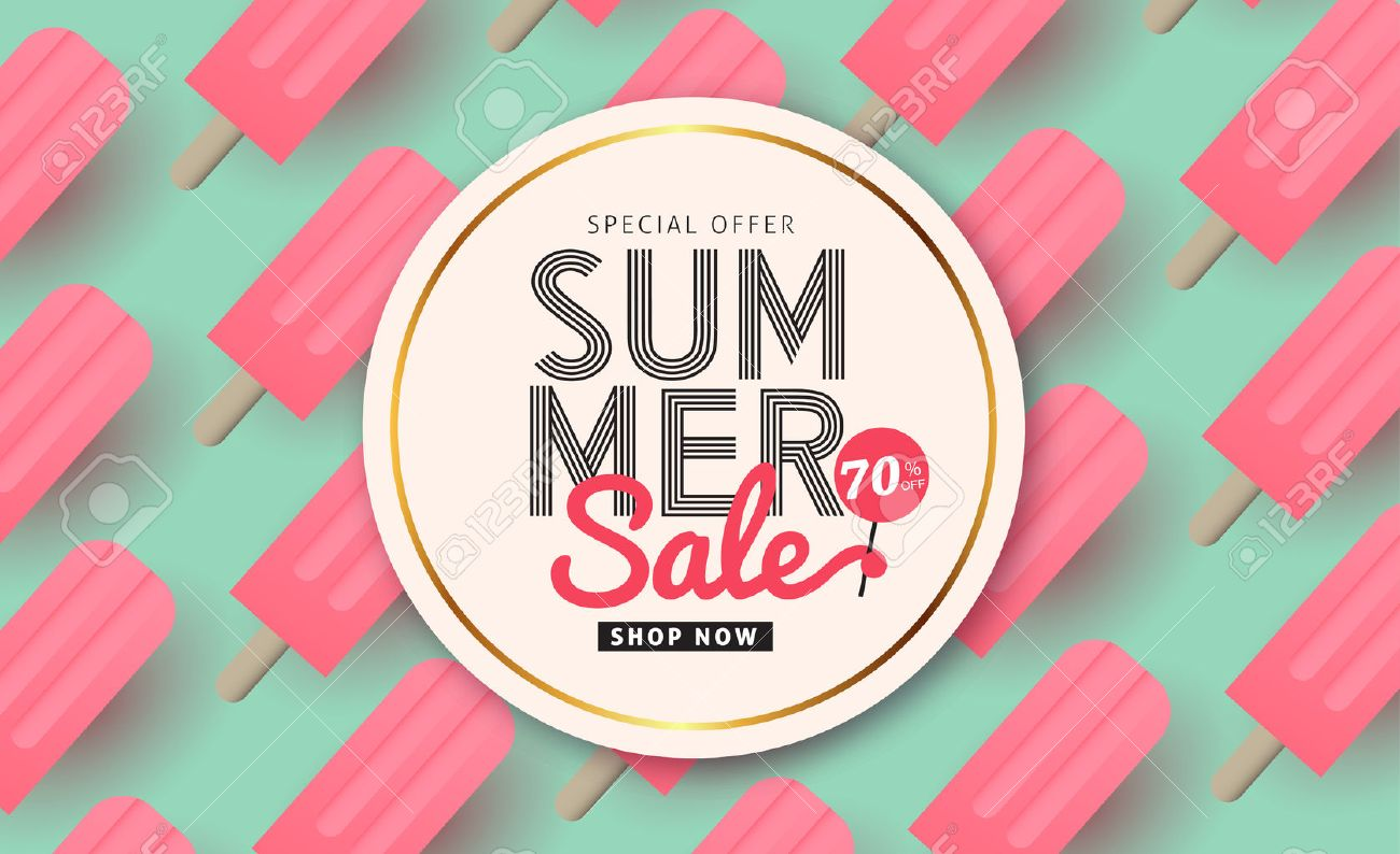 Summer Sale Pattern Layout For BannersWallpaperflyers Invitation Posters Brochure