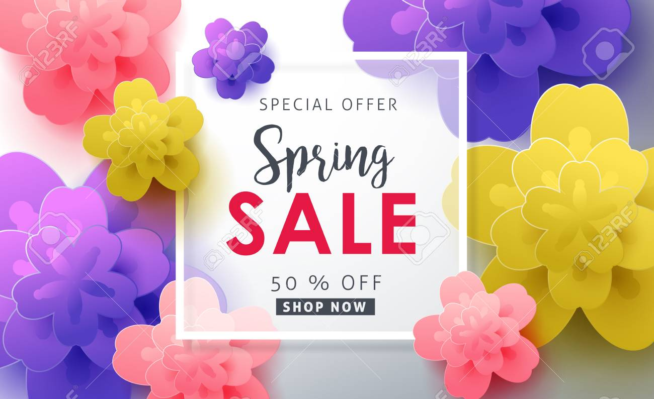 Spring sale pattern layout with beautiful colorful flower for spring sale pattern layout with beautiful colorful flower for bannerswallpaperflyers invitation izmirmasajfo