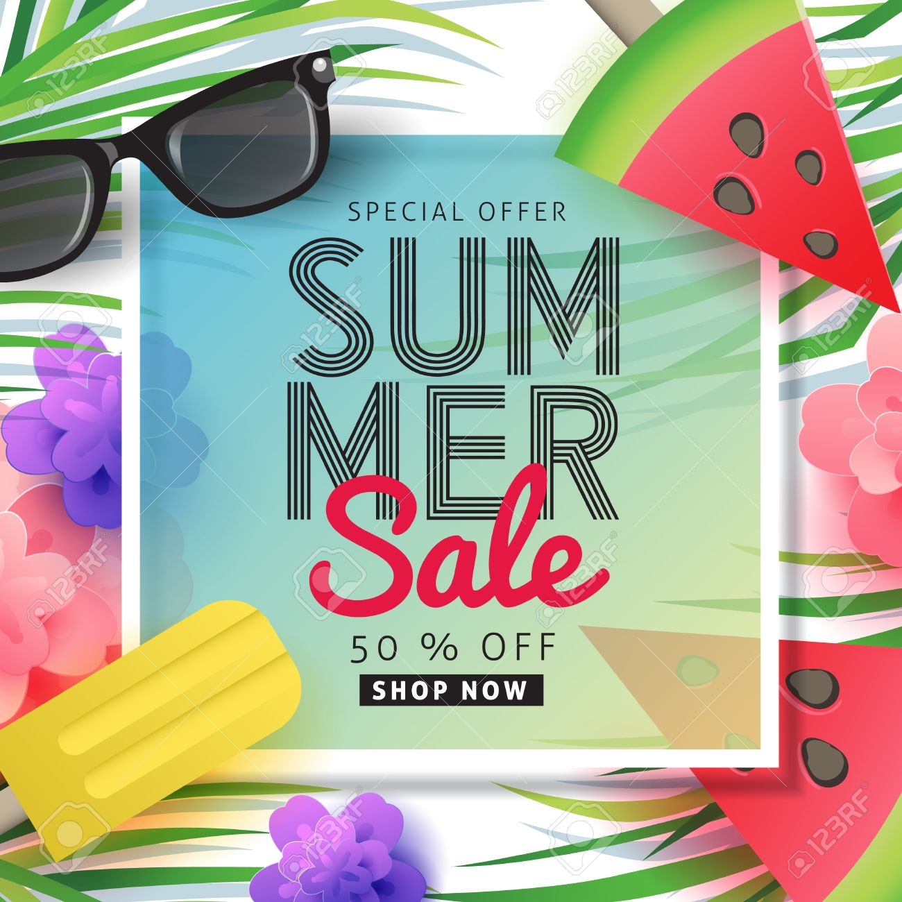 Summer sale background layout for banners wallpaperflyers summer sale background layout for banners wallpaperflyers invitation posters brochure stopboris Choice Image