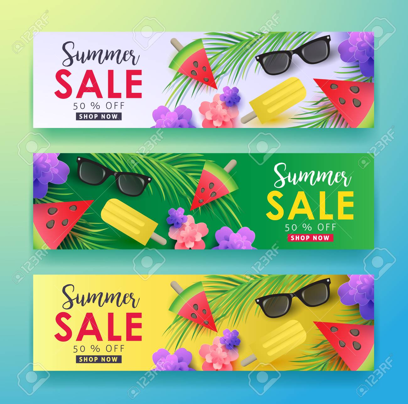 Summer sale background layout for banners,Wallpaper,flyers, invitation, posters, brochure, voucher discount.Vector illustration template. - 74283014