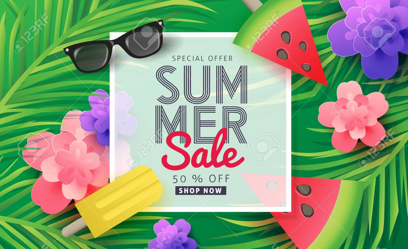 Summer sale background layout for banners wallpaper flyers summer sale background layout for banners wallpaper flyers invitation posters brochure stopboris Choice Image