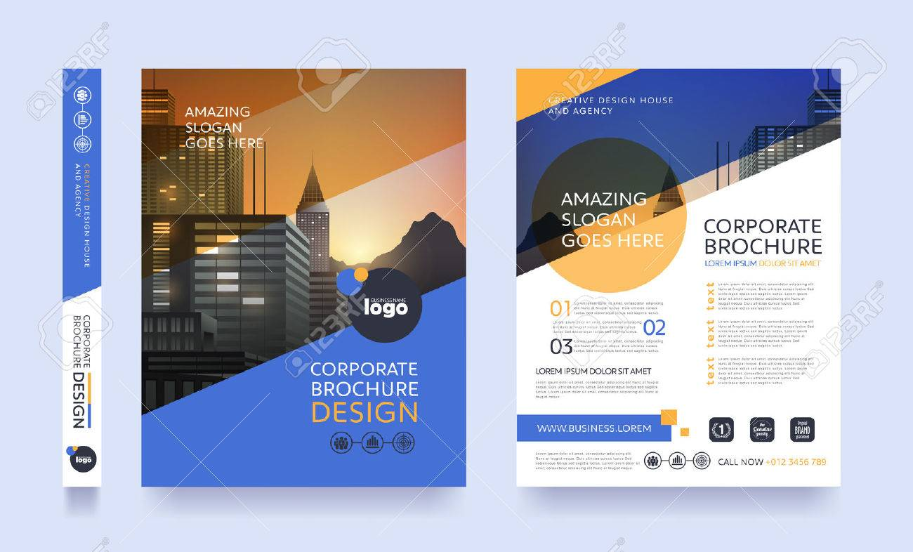 poster flyer pamphlet brochure cover design layout space for photo background, vector template in A4 size - 74429769