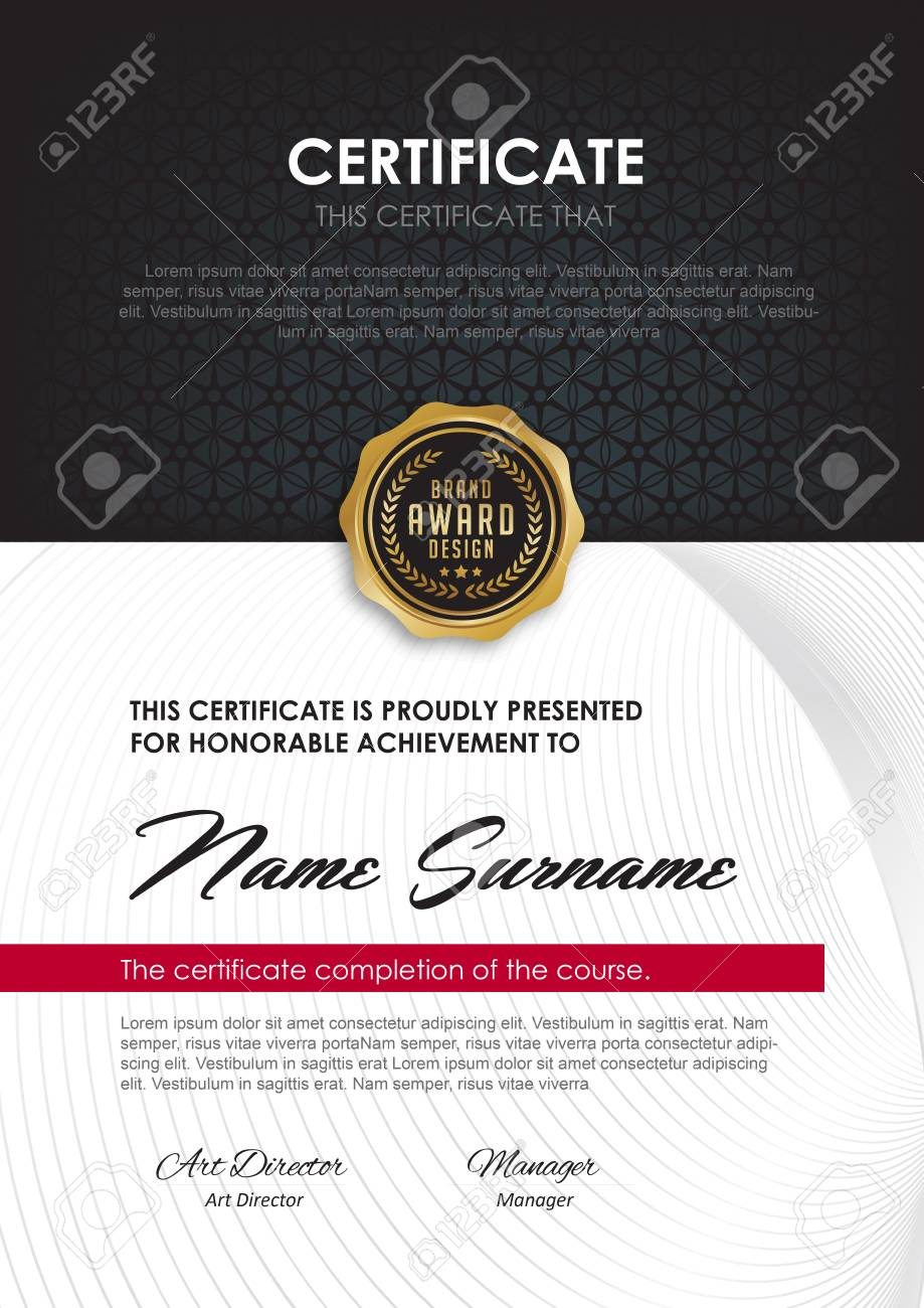 Elegant Certificate Template With Luxury And Modern Patterndiploma
