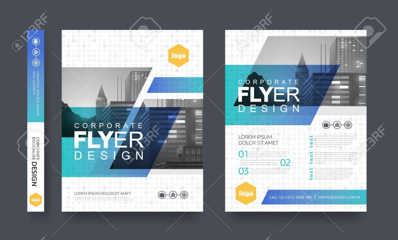 poster flyer pamphlet brochure cover design layout space for photo background, vector template in A4 size - 75271856