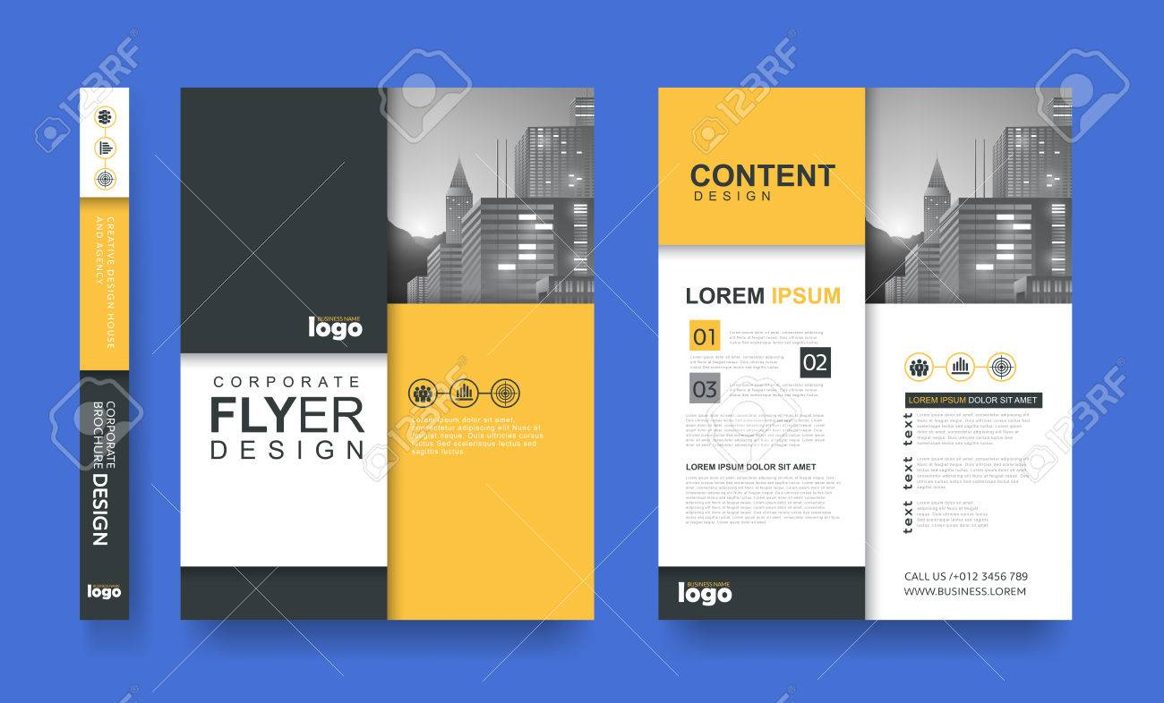 Poster Flyer Pamphlet Brochure Cover Design Layout Space For ...