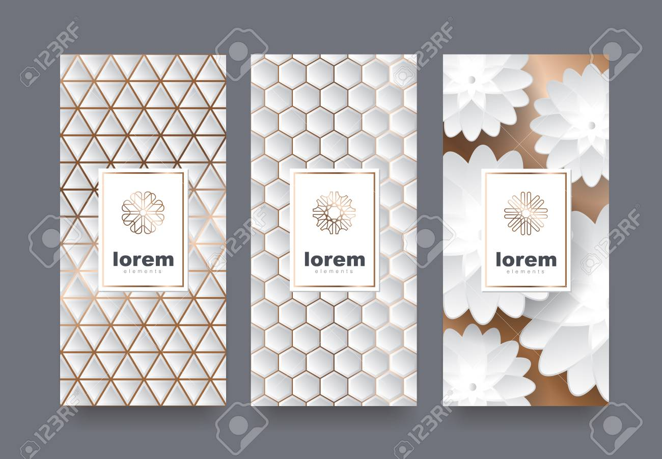 Packaging Templates With Different Texture For Luxury Products.logo ...