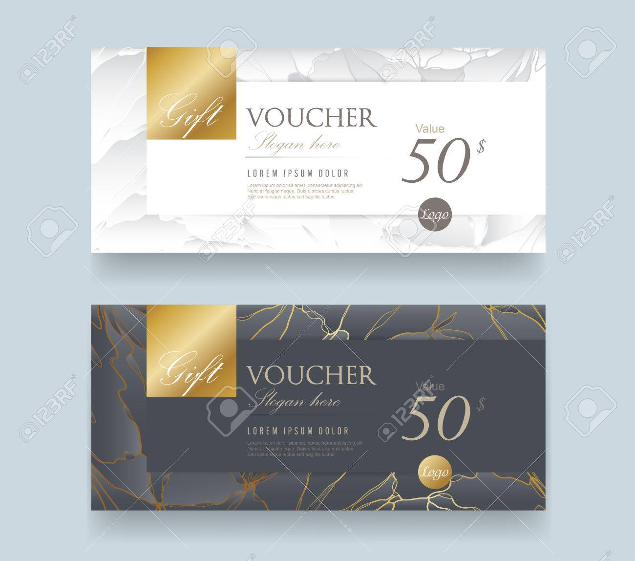 Gift Voucher discount template with luxury pattern.Vector template for gift card premium pattern. Vector illustration. - 78340292