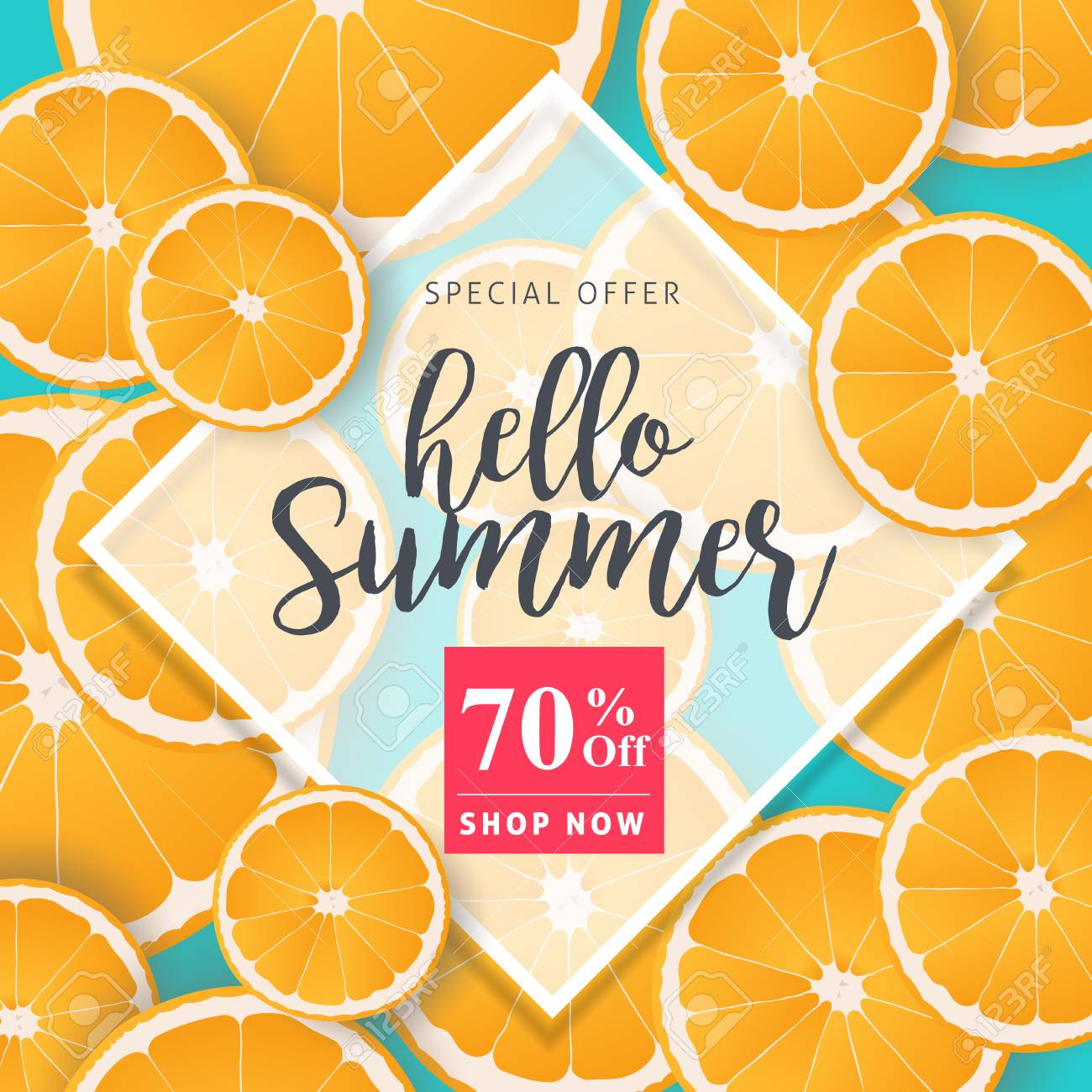 Summer sale background layout banners decorate with orange.voucher discount.Vector illustration template. - 82347843