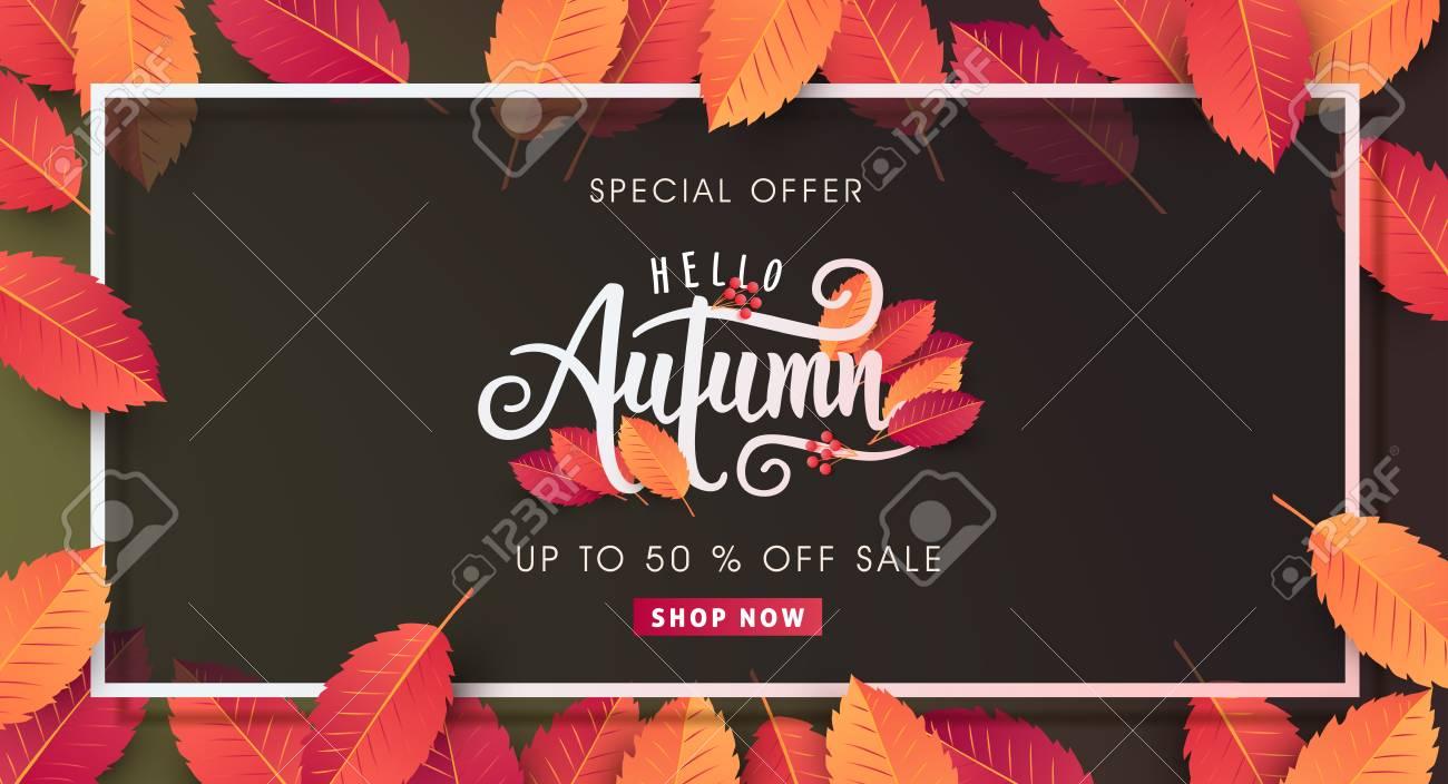 Autumn calligraphy. Seasonal lettering.vector illustration - 85185679