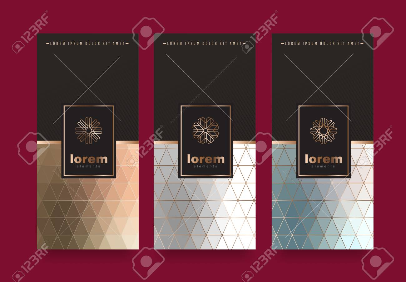 Vector Set Packaging Templates With Different Texture For Luxury ...