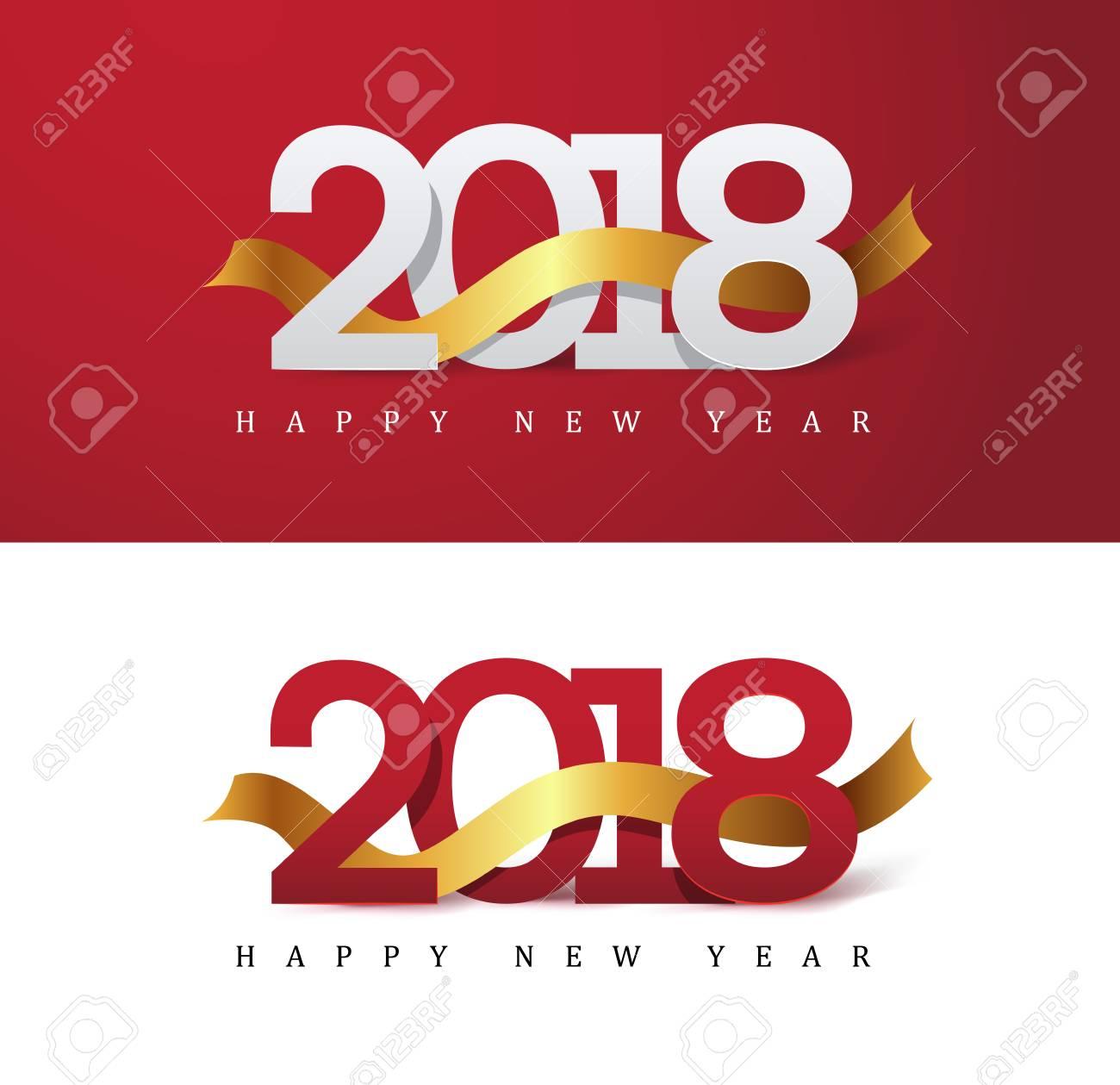 2018 new year greeting card vector illustrationwallpaper stock vector 90424978