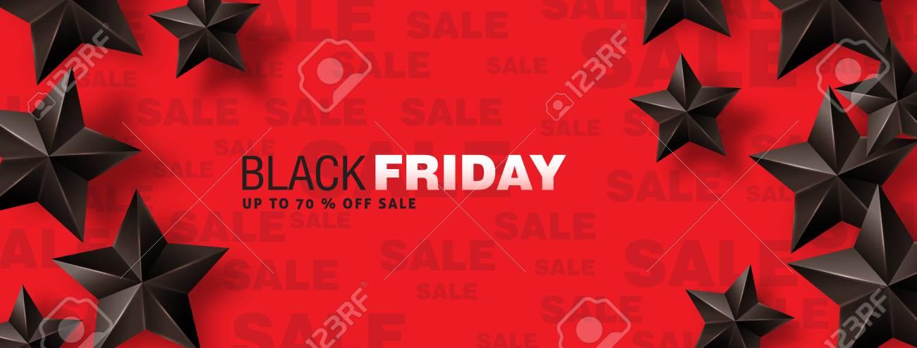 Black friday sale banner layout design template. Vector illustration - 110185872