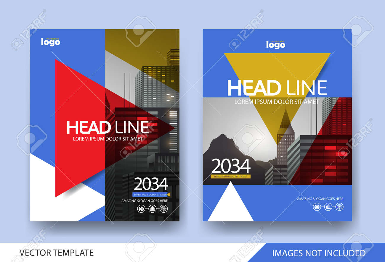 Corporate book cover design Layout template - 168671059