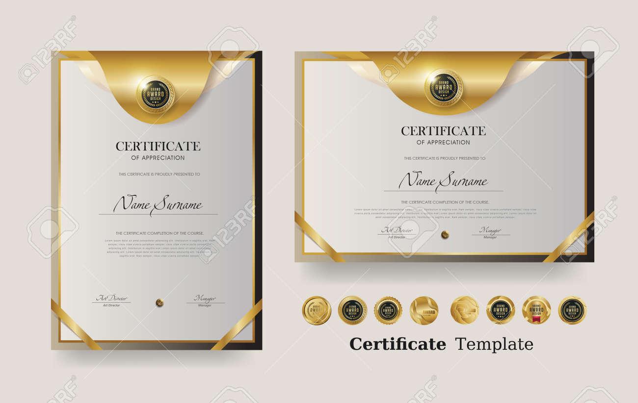 Certificate of appreciation template and vector Luxury premium badges design - 170938783
