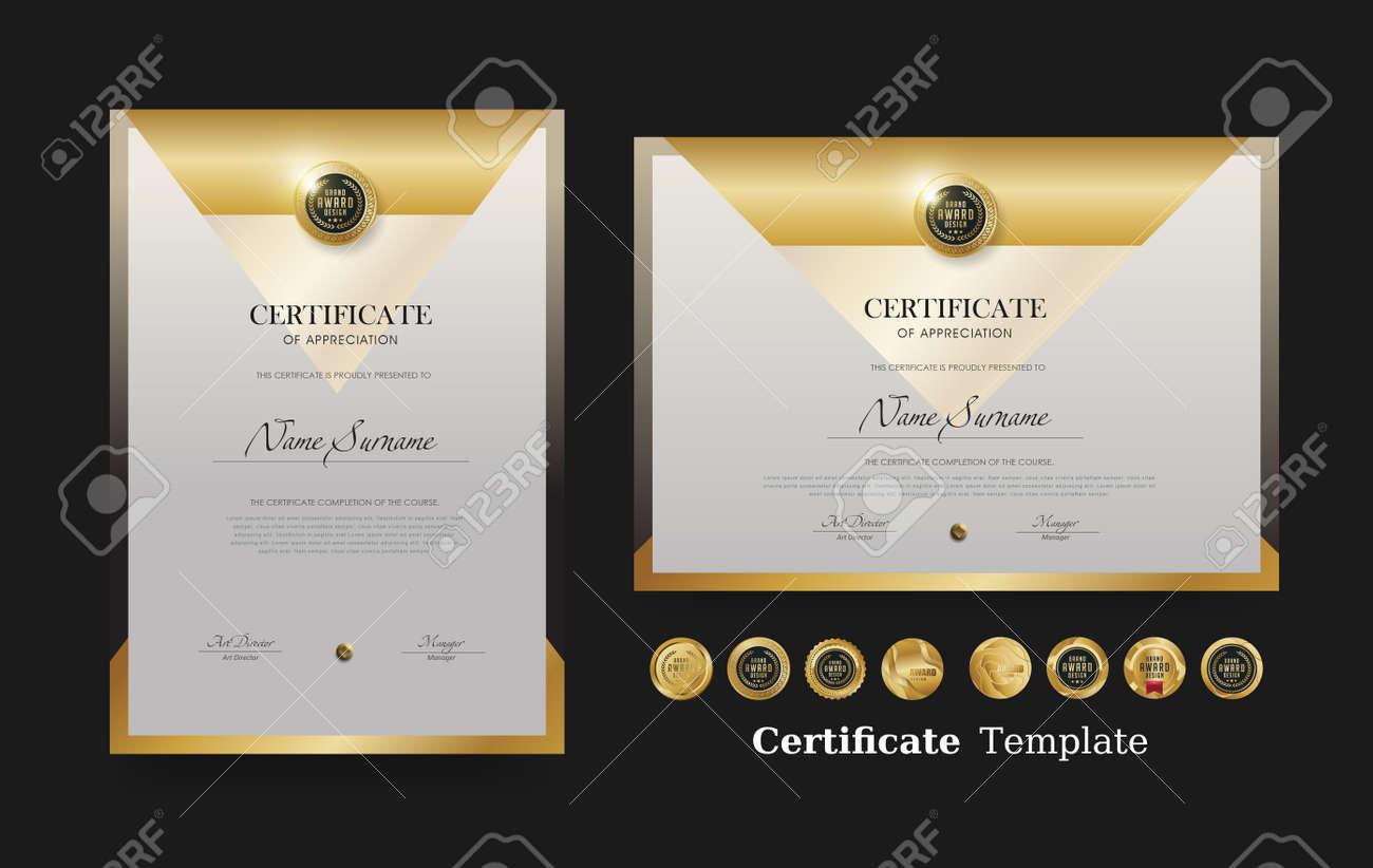 Certificate of appreciation template and vector Luxury premium badges design - 170916277