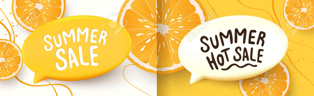 Colorful Summer sale background layout banners design. Horizontal poster, greeting card, header for website - 171682787