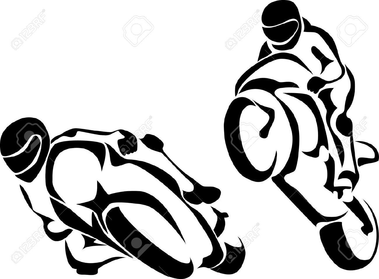 motorcyclist logo Stock Vector - 10568644