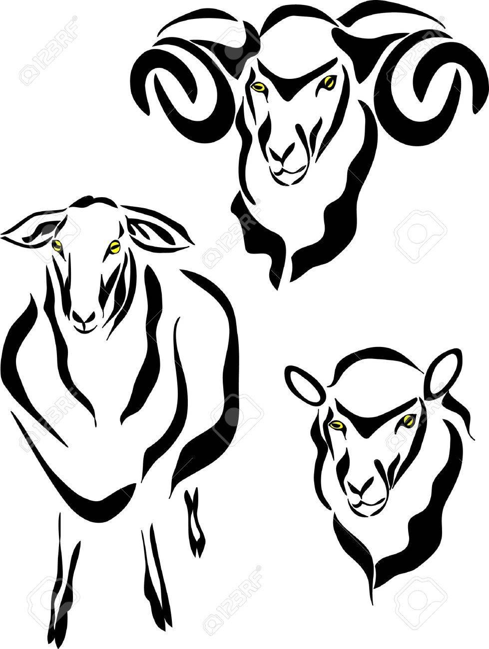 Sheep Logo Stock Vector