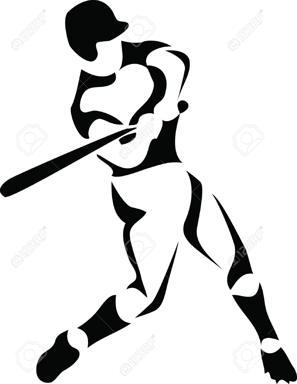 baseball player royalty free cliparts vectors and stock rh 123rf com basketball player victory from tacoma academy basketball player vectors