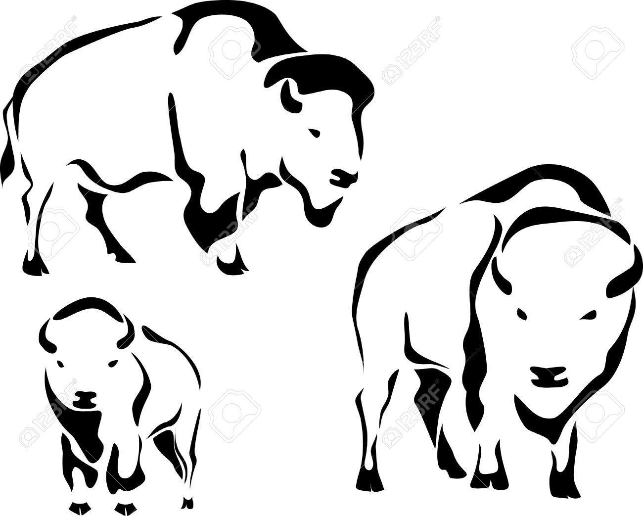 Bison Buffalo Animal Bison Logo