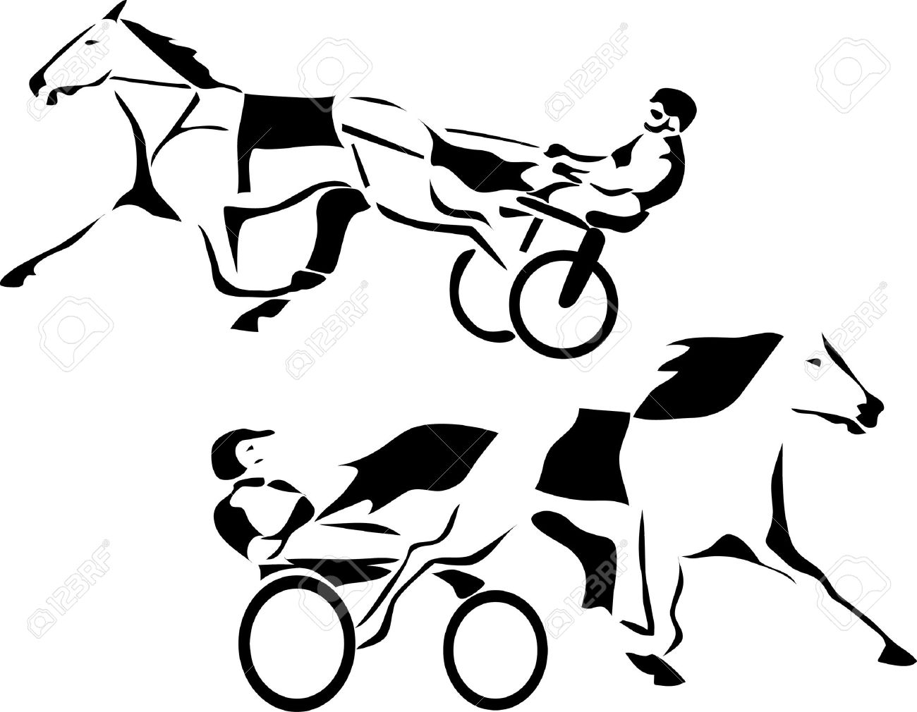 Harness Racing Royalty Free Cliparts, Vectors, And Stock ...