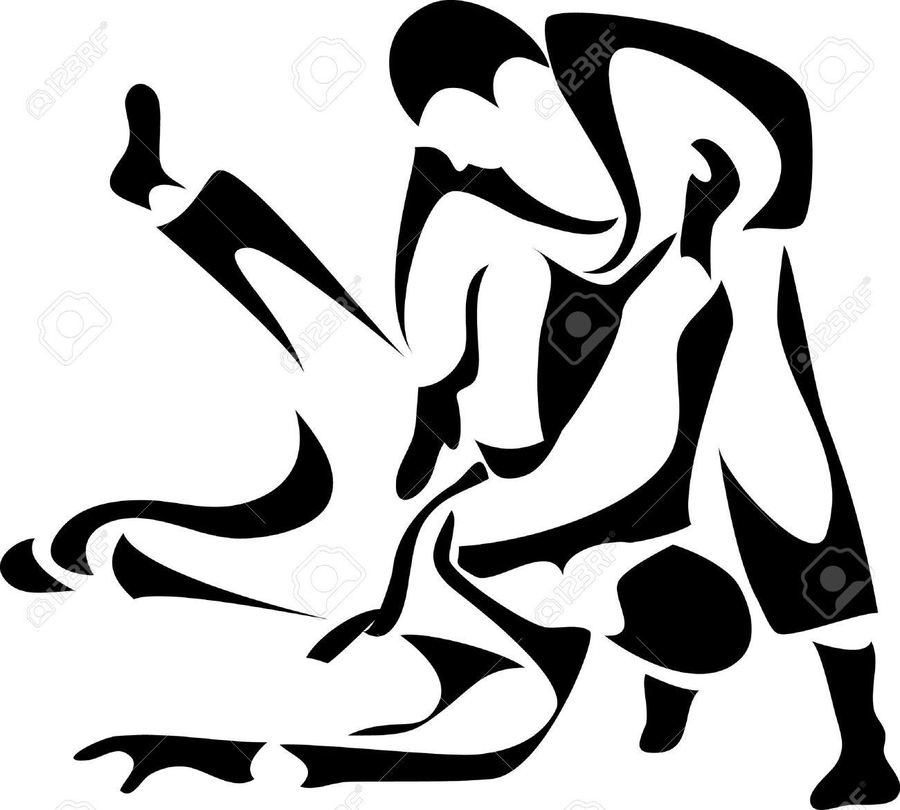 judo logo Stock Vector - 10771568
