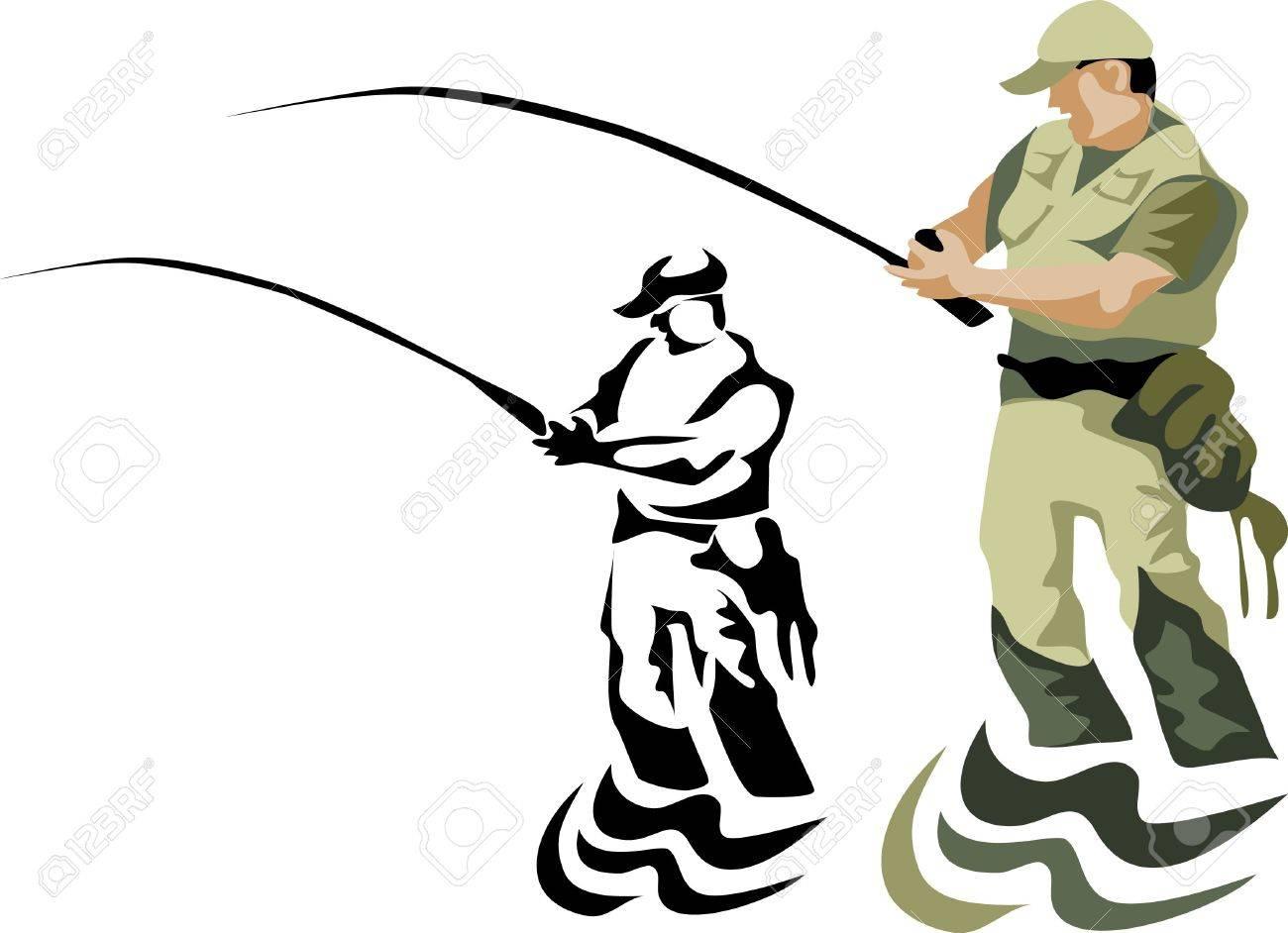 fly fishing Stock Vector - 10833626