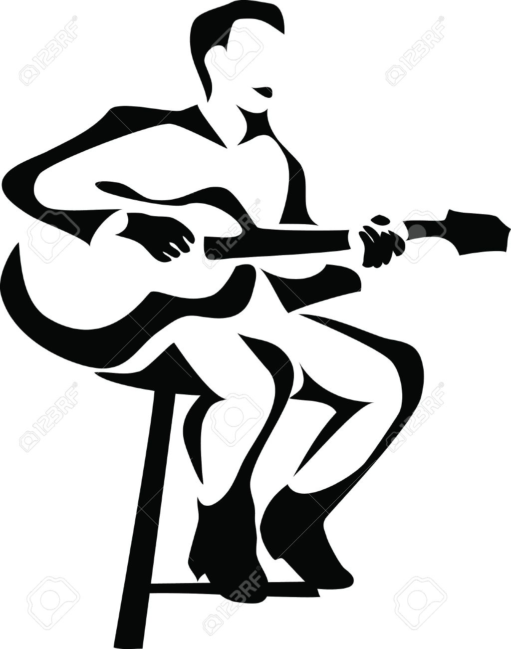 guitar player royalty free cliparts vectors and stock illustration rh 123rf com guitar player clipart free guitar player clipart free