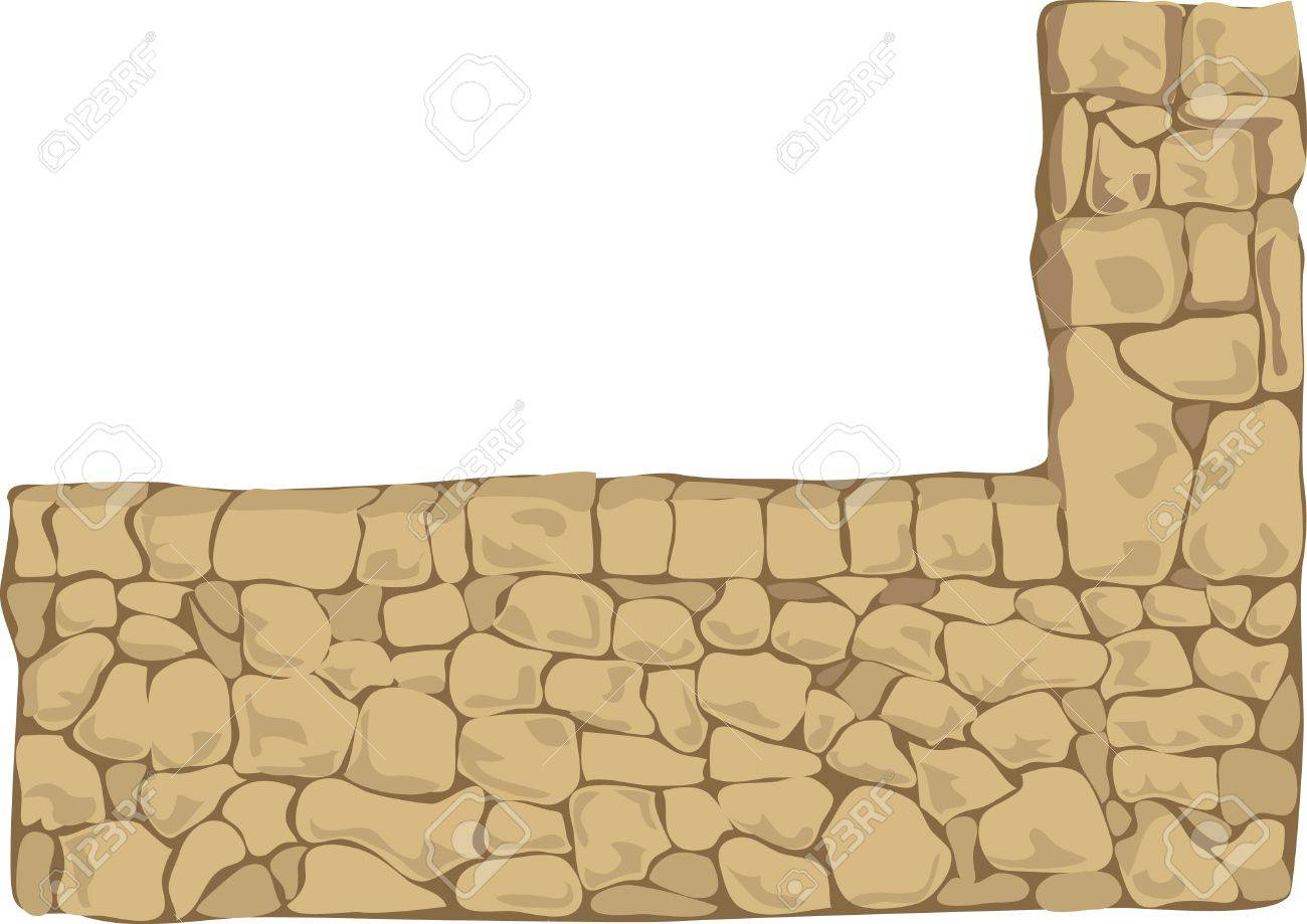niche in the stone wall Stock Vector - 14738618