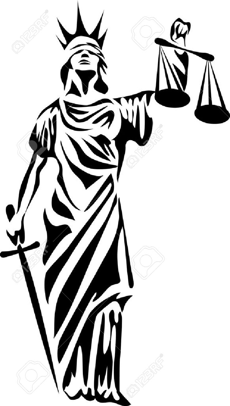 Blind Lady Justice Images Vector - goddess of justice