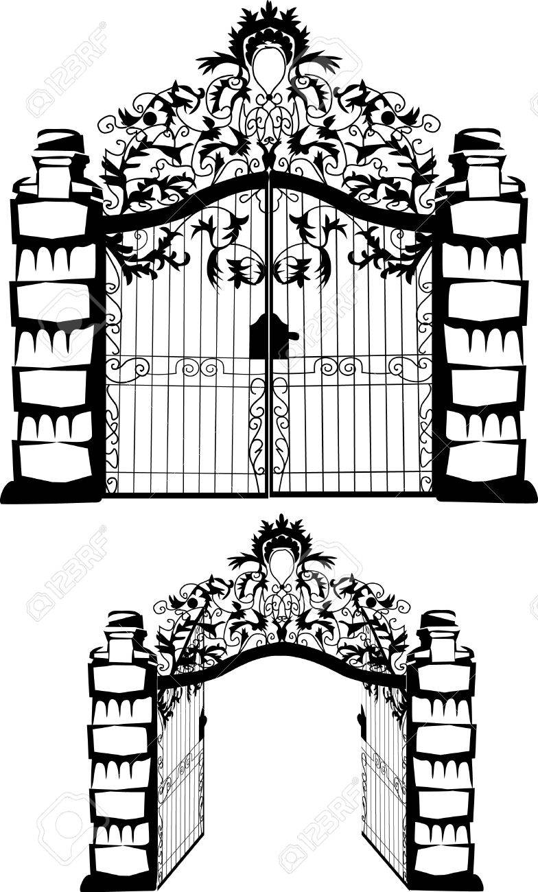 forged gate Stock Vector - 17271617