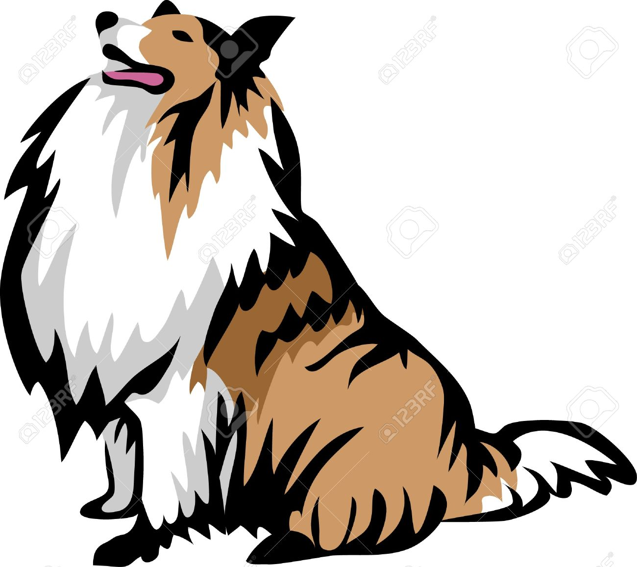 1 686 collie stock vector illustration and royalty free collie clipart rh 123rf com collie dog clip art working border collie clip art