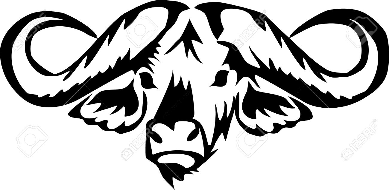 8109a420a Head Of African Water Buffalo Royalty Free Cliparts, Vectors, And ...