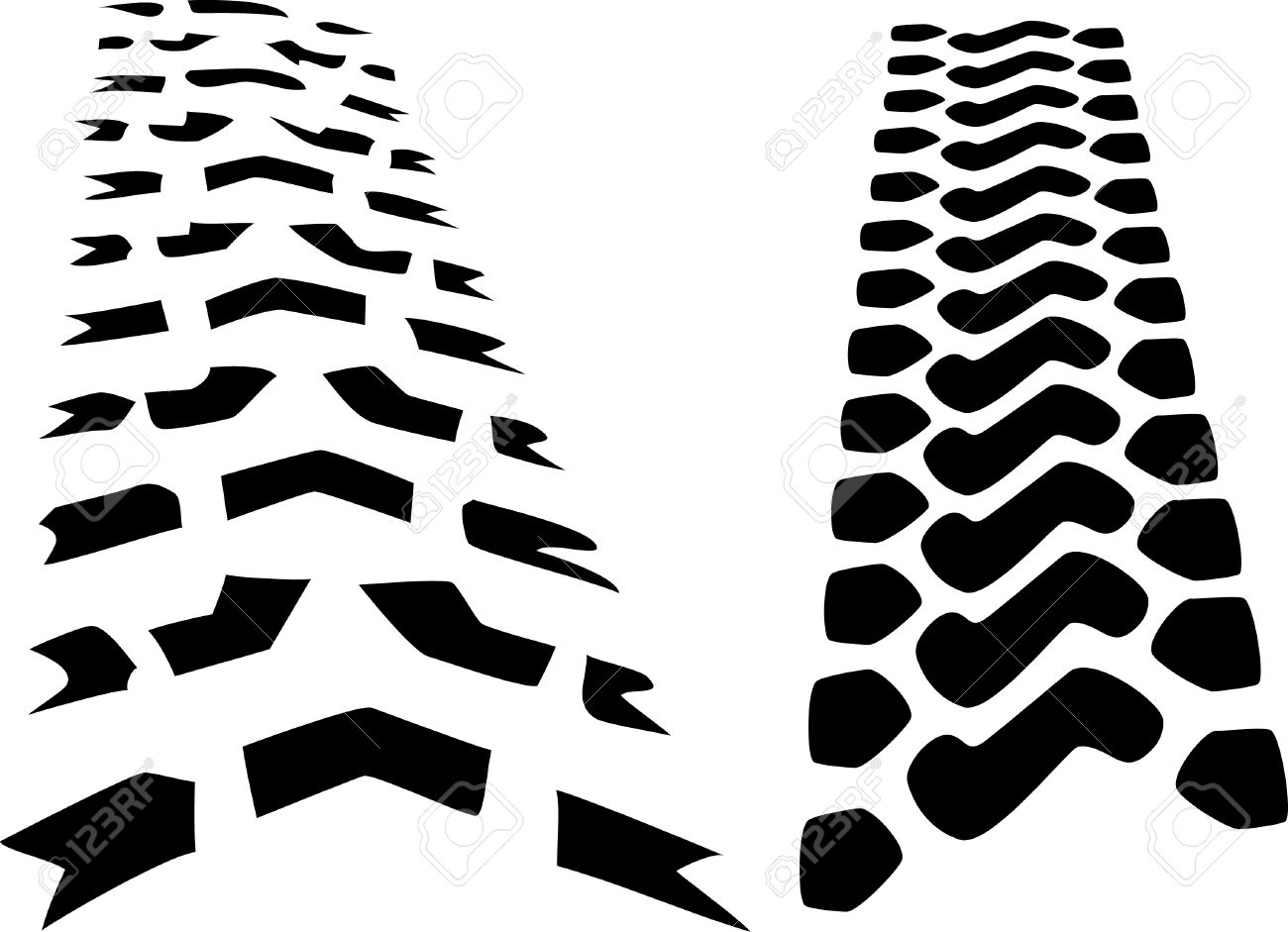 tracks tractor tires royalty free cliparts vectors and stock rh 123rf com tire track vector png bike tire track vector