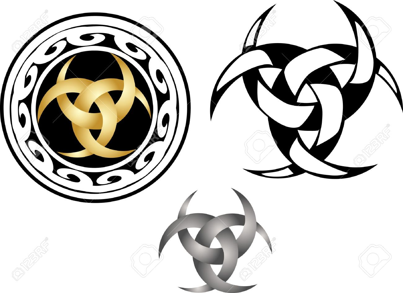 Moon talisman three intertwined crescents royalty free cliparts moon talisman three intertwined crescents stock vector 18699886 biocorpaavc