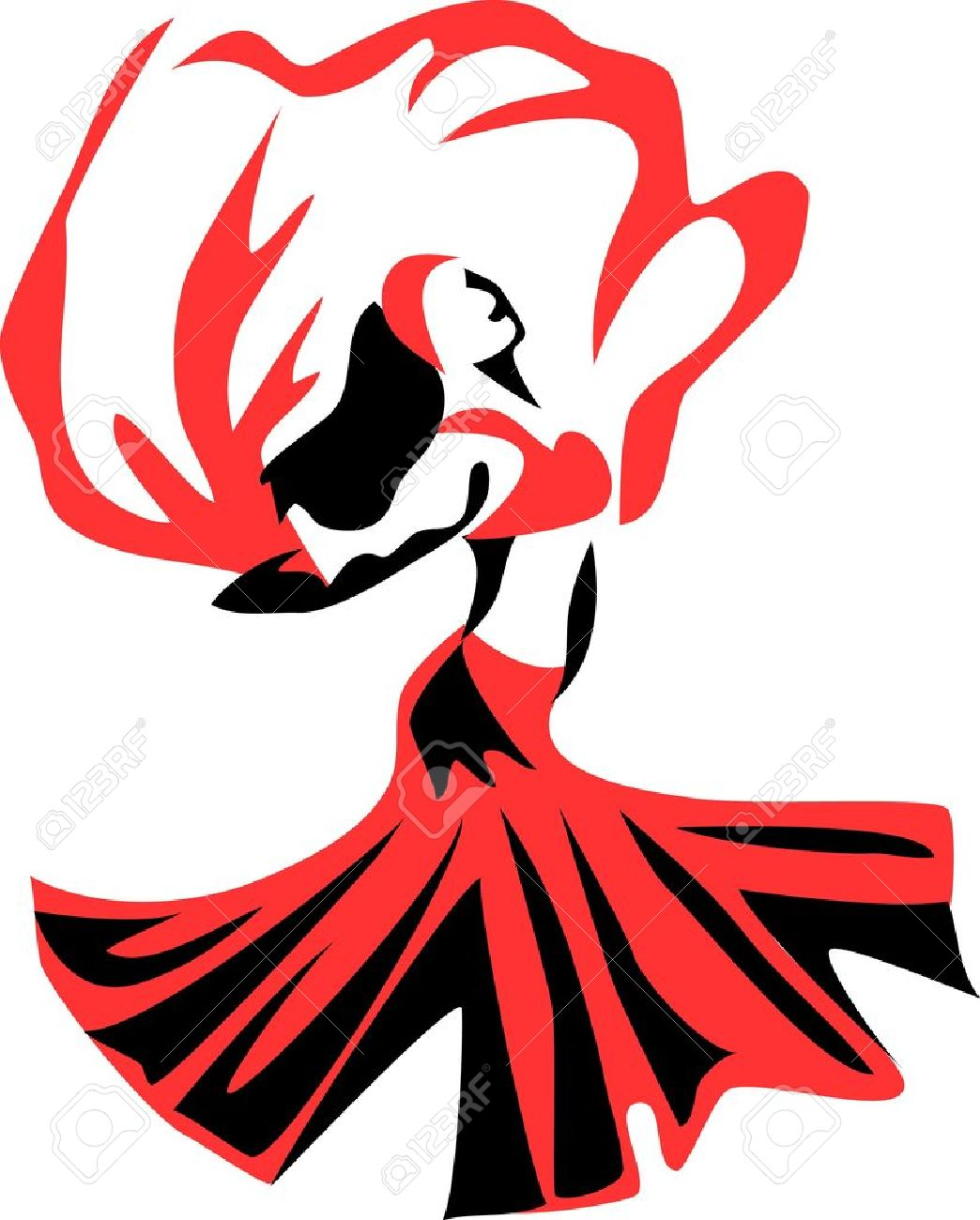 Belly Dancer With A Veil Royalty Free Cliparts, Vectors, And Stock ...