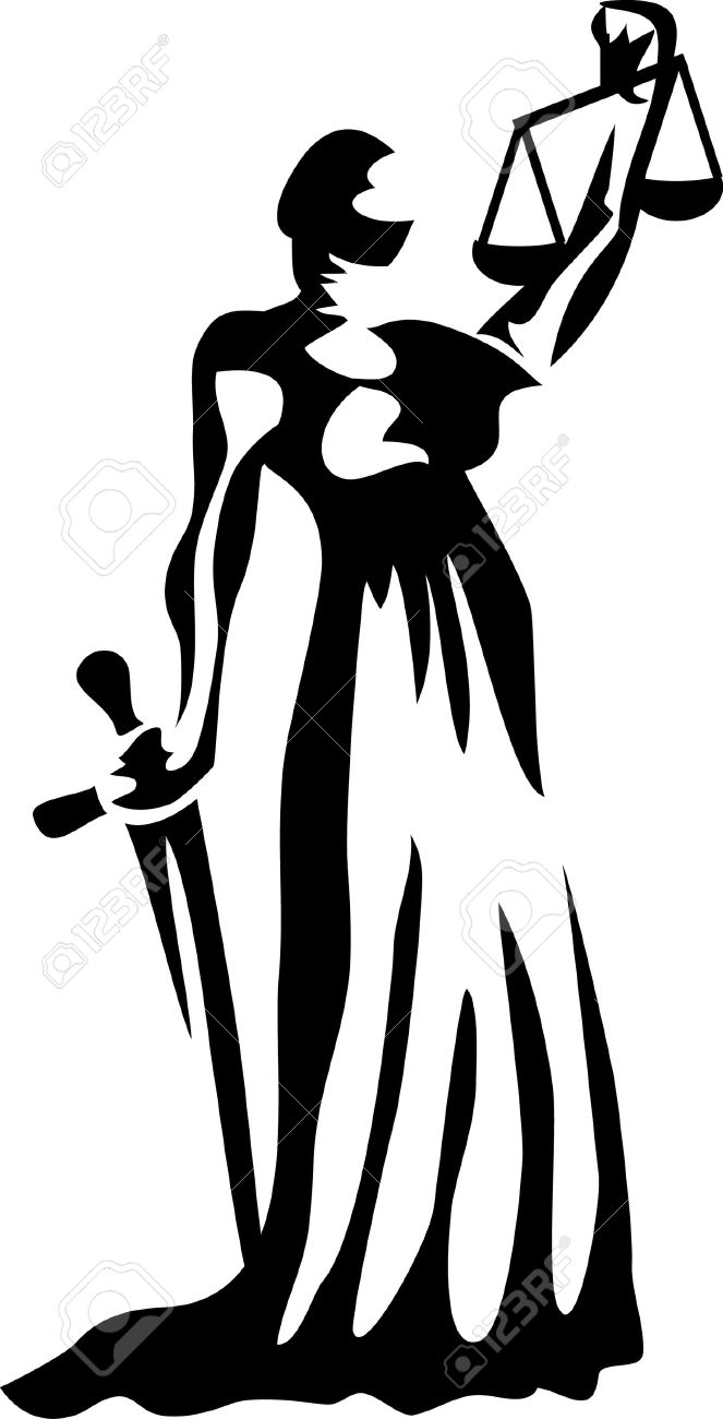 Blind Lady Justice Images Vector - lady justice
