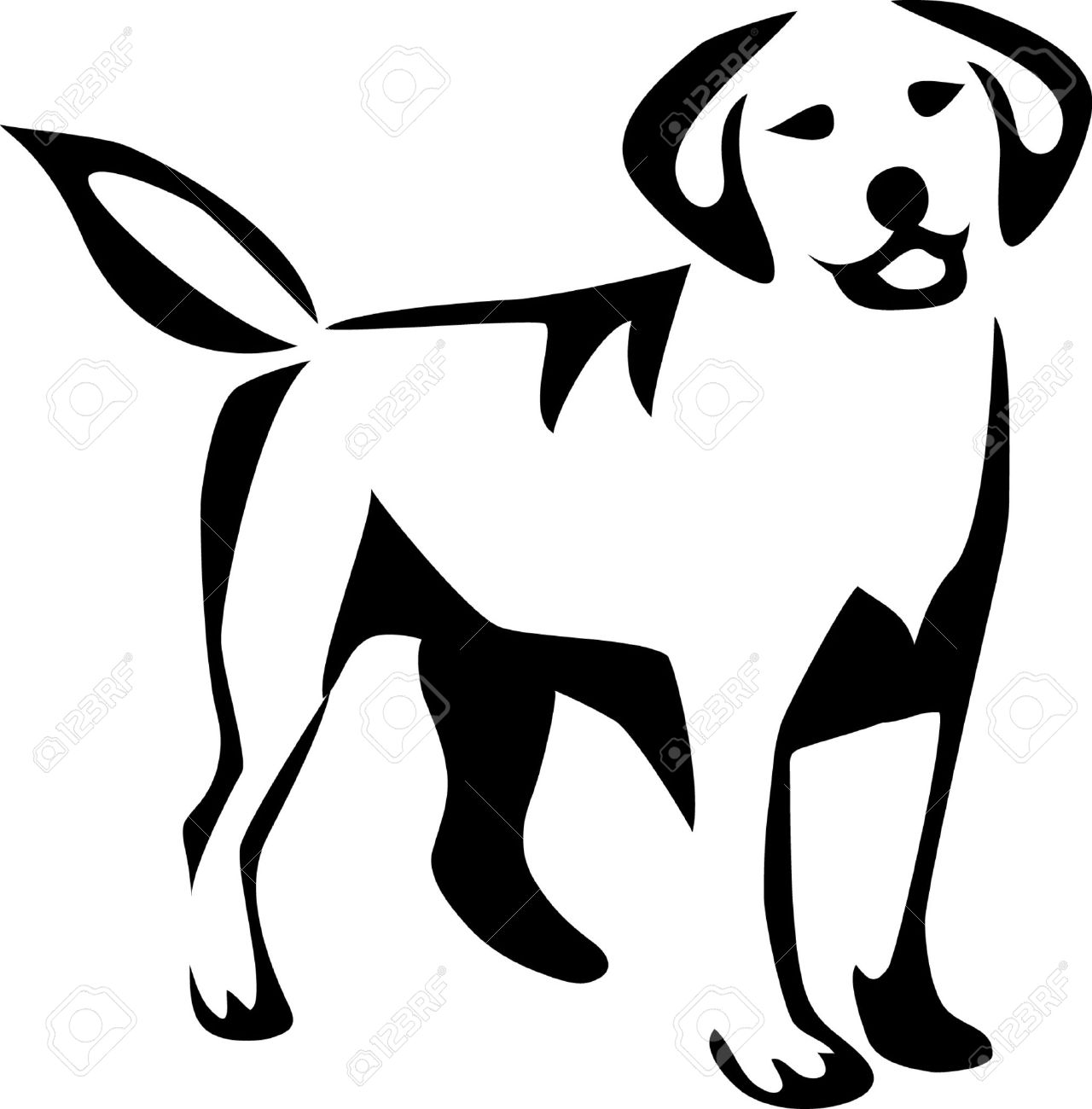 stylized labrador retriever royalty free cliparts vectors and rh 123rf com labrador retriever black and white clipart Labrador Retriever Head