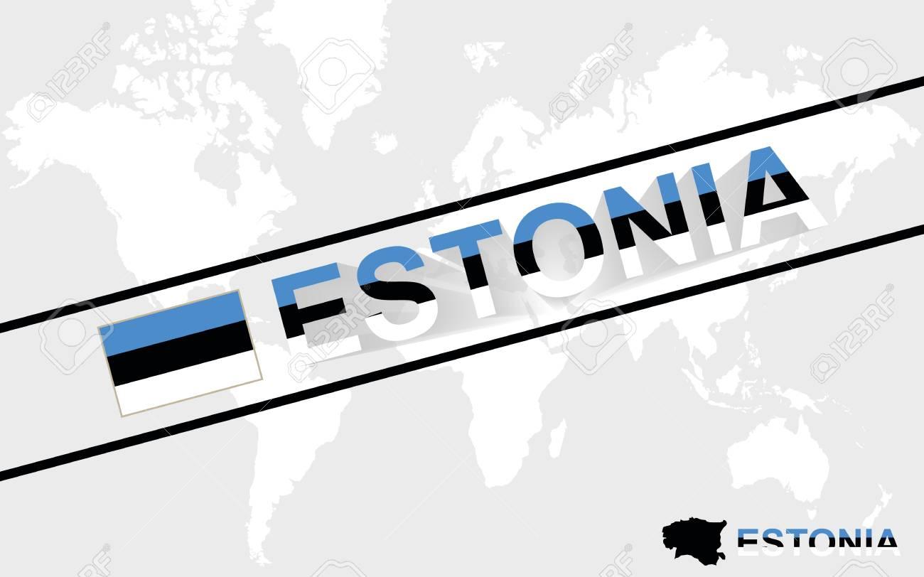 Estonia map flag and text illustration on world map royalty free estonia map flag and text illustration on world map stock vector 38635650 gumiabroncs Gallery