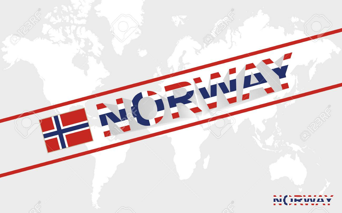 Norway map flag and text illustration on world map royalty free norway map flag and text illustration on world map stock vector 38634118 gumiabroncs Gallery