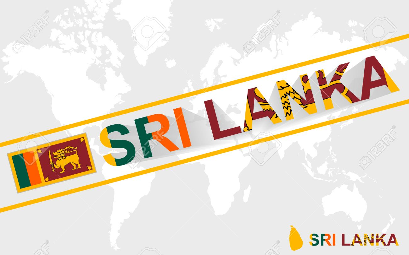 Sri lanka map flag and text illustration on world map royalty sri lanka map flag and text illustration on world map stock vector 43472630 gumiabroncs Image collections