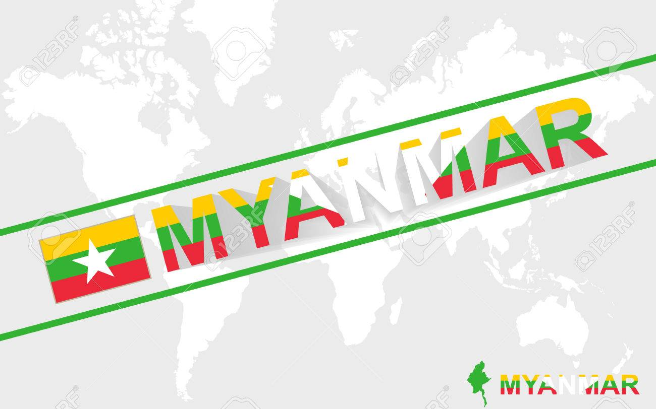 Myanmar map flag and text illustration on world map royalty free myanmar map flag and text illustration on world map stock vector 43472707 gumiabroncs Image collections