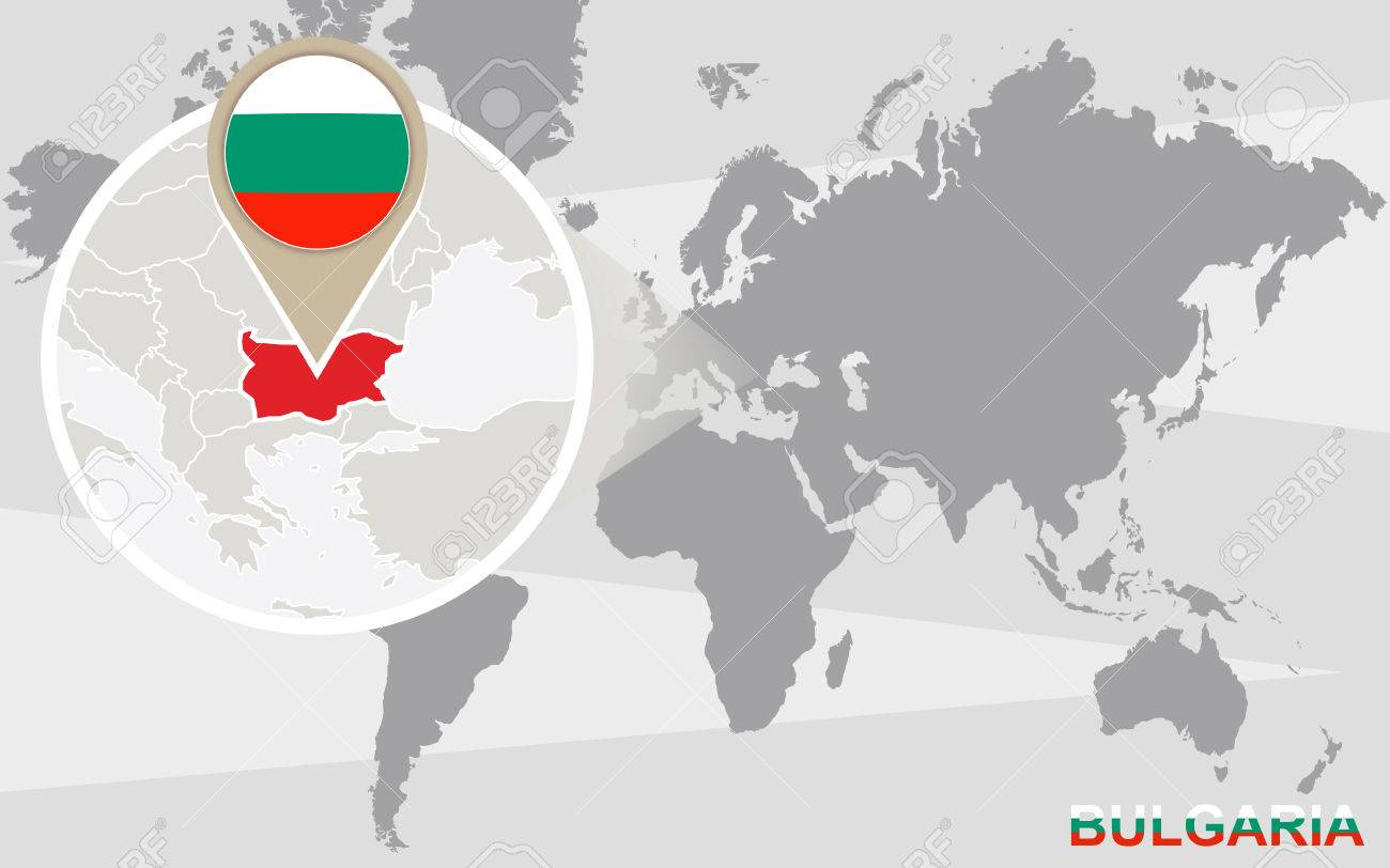 Picture of: World Map With Magnified Bulgaria Bulgaria Flag And Map Royalty Free Cliparts Vectors And Stock Illustration Image 45724068