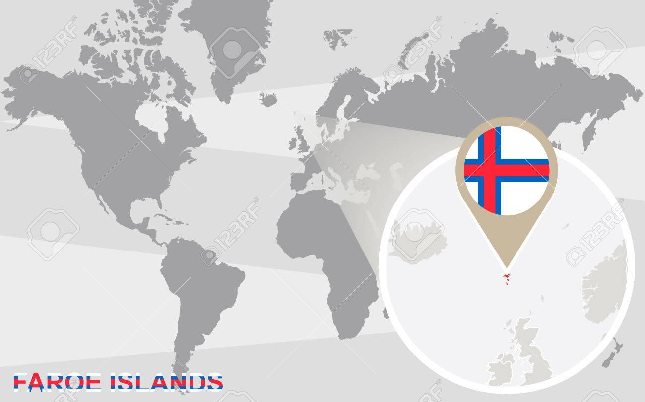 Färöer Inseln Karte.Stock Photo