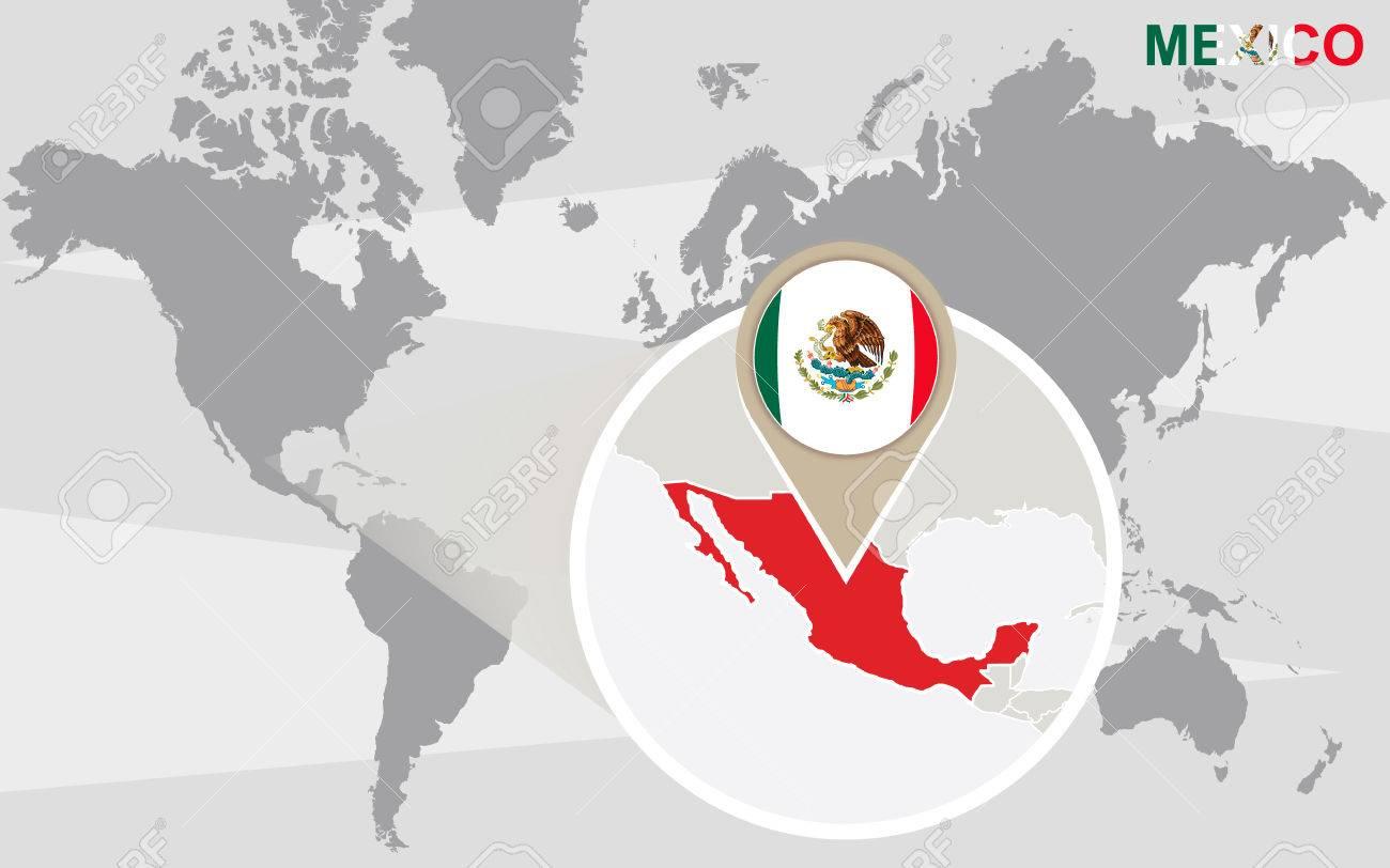 carte du monde mexique