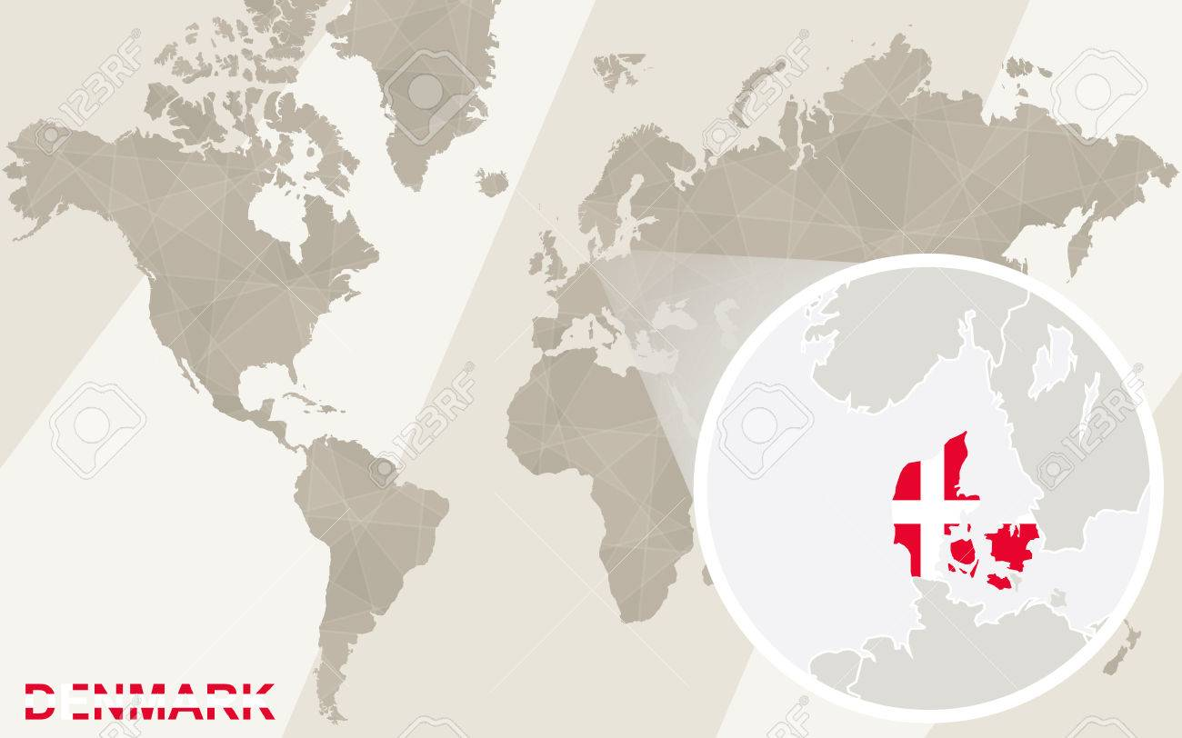 Zoom on denmark map and flag world map royalty free cliparts vector zoom on denmark map and flag world map gumiabroncs Images