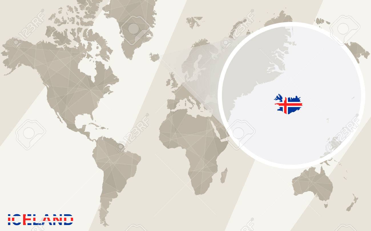 Zoom on iceland map and flag world map royalty free cliparts vector zoom on iceland map and flag world map gumiabroncs Gallery