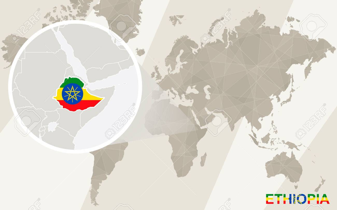 Zoom on ethiopia map and flag world map royalty free cliparts vector zoom on ethiopia map and flag world map gumiabroncs Choice Image