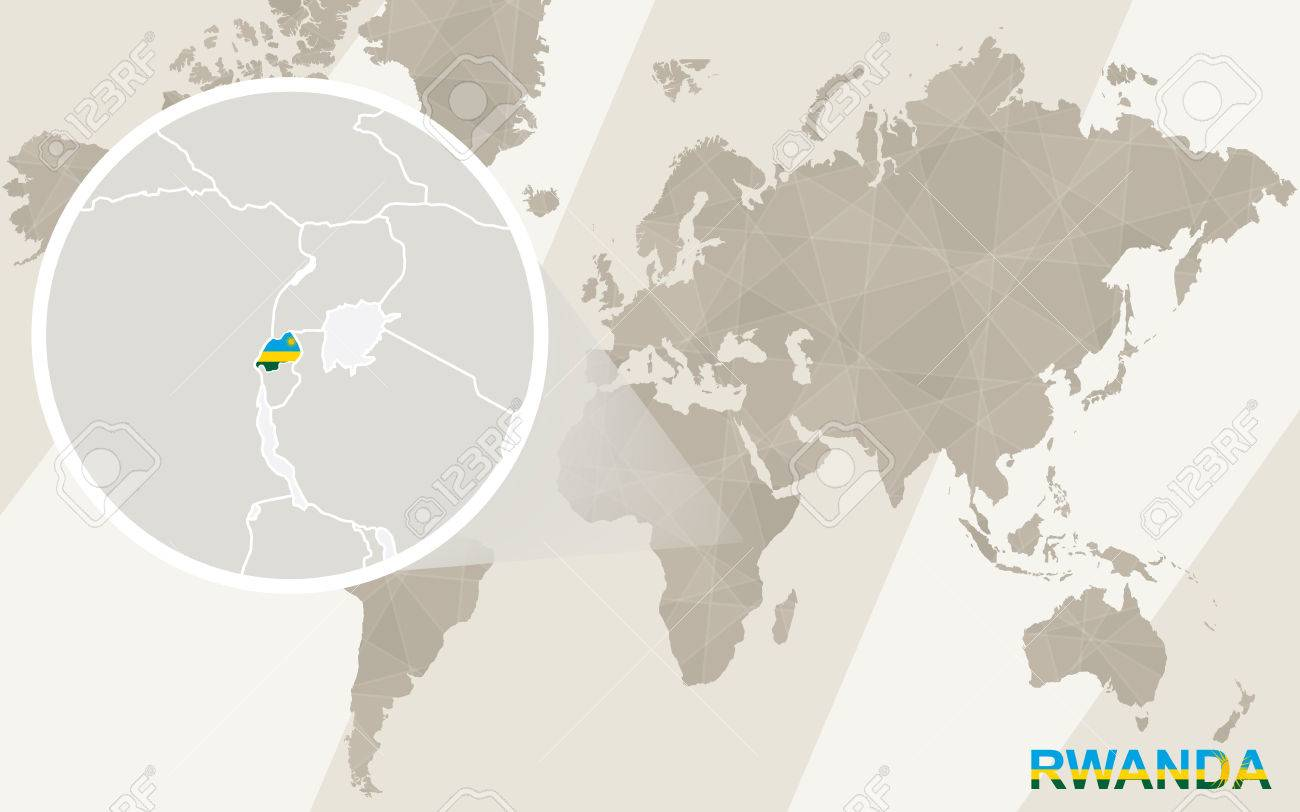 Image of: Zoom On Rwanda Map And Flag World Map Royalty Free Cliparts Vectors And Stock Illustration Image 53341479