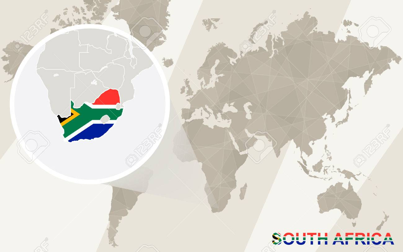 Zoom on south africa map and flag world map royalty free cliparts vector zoom on south africa map and flag world map gumiabroncs Gallery
